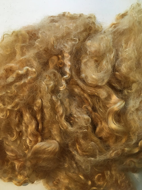 Golden Brown - naturally dyed mohair
