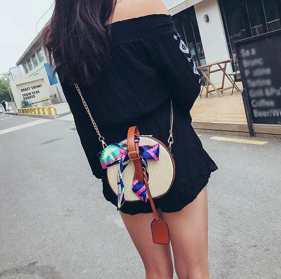 Straw Shoulder Crossbody Bag