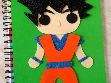 DIY: CUADERNOS DECORADOS Goku.✨// Hazlo tu mismo ❤️