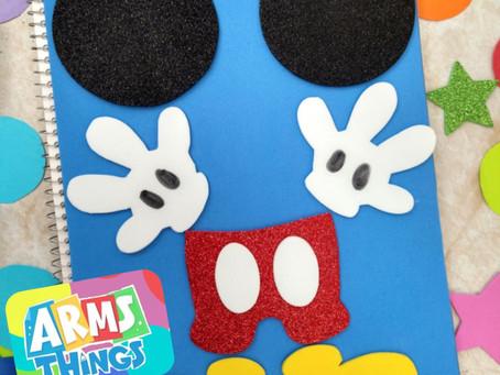 Cuaderno decorado Minnie y Mickey✨// Hazlo tu mismo ❤️