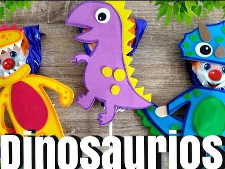 Paletas Payaso decoradas // PALETAS PAYASO Dinosaurios // paletas Payaso decoradas para niños.