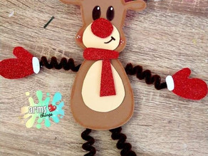 Moldes adornos navideños de foami // Pingüino de foami // reno de foami // muñeco de nieve