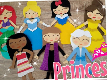DIY:Princesas Disney en Foami / Moldes Gratis / Ariel / Moana / Bella / Cenicienta / Elsa / Ana