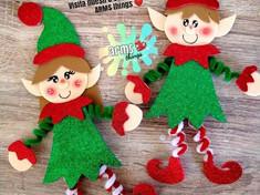 Moldes duendes navideños