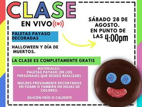Clase en vivo Paletas payaso decoradas✨// Hazlo tu