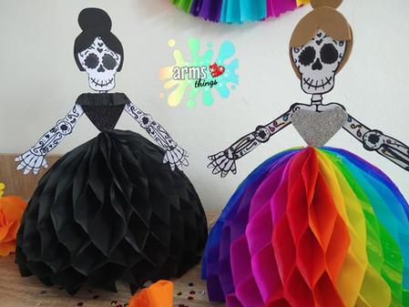 DIY: Adornos Halloween Calaveritas Vestidas.✨// Hazlo tu mismo ❤️