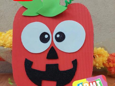 DIY: Cajita decorada Calabaza Halloween✨// Hazlo tu mismo ❤️