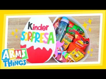 DIY: Caja Huevo Kinder GIGANTE! // regalo para el día del niño // Huevito Kinder Gigante !!