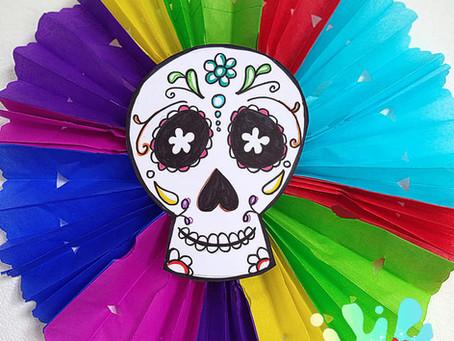 DIY: Adornos Halloween y dia de muertos Rosetones.✨// Hazlo tu mismo ❤️