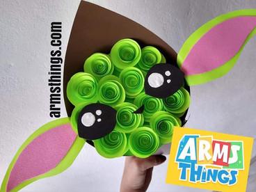 DIY:  Ramos Yoda, Unicornio, Mickey // Día del niño // Ramo de flores de papel