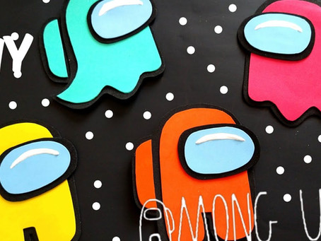 Among US en foami // Paletas Payaso Among US // + 2 ideas de dulceros Among US fáciles