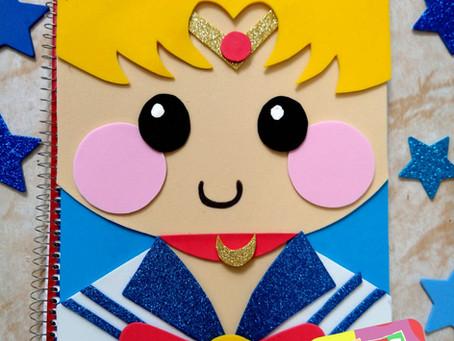 DIY: CUADERNOS DECORADOS Sailor Moon.✨// Hazlo tu mismo ❤️