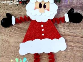 Moldes decoraciones navideñas de goma EVA