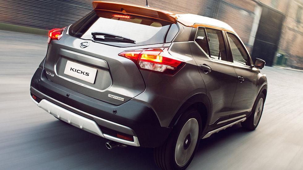 "Ponteira Nissan Kicks 3"" Chanfrada Redução 2.5"" Inox 304"