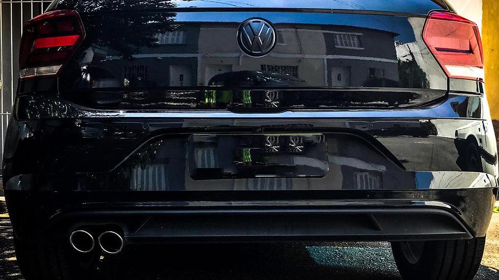 "Ponteira Dupla 3"" Chanfrada Inox 304 Y VW Novo Polo MSI TSI GTS GTI"