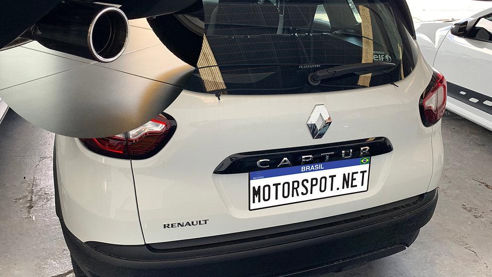 """Ponteira Renault Captur 2.5""""Reta Inox 304 Polido"""