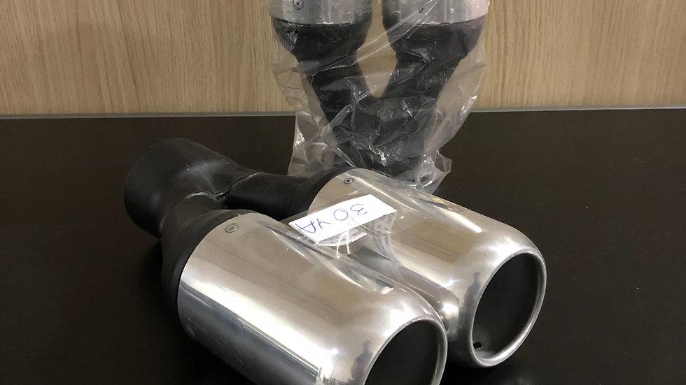 """Ponteira Dupla 3"""" Reta Aluminio Y em Aço"""