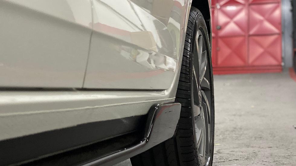 Par de Spoilers Laterais Volkswagen Polo TSI MSI Black Piano ou Carbono WT