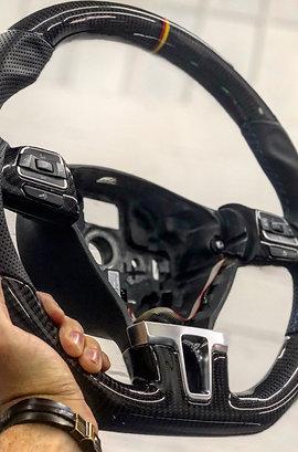 Volante MK6 Fibra de Carbono com Couro TOP