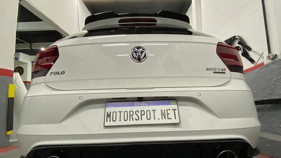 Difusor Traseiro Volkswagen Polo TSI MSI Black Piano ou Carbono WT