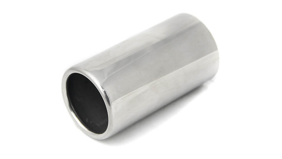 Ponteira de Escapamento de Alumínio Reta - FRETE GRÁTIS
