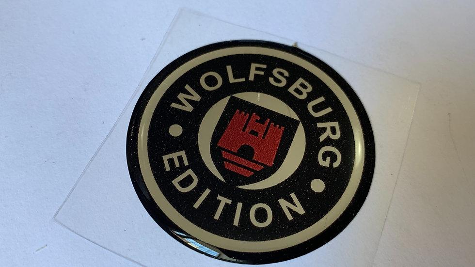 Emblema Adesivo Resinado Wolfsburg Edition