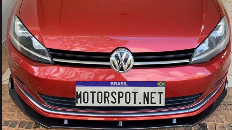 Front Lip Spoiler para Linha Volkswagen Golf MK7 e 7.5 TSI e GTI