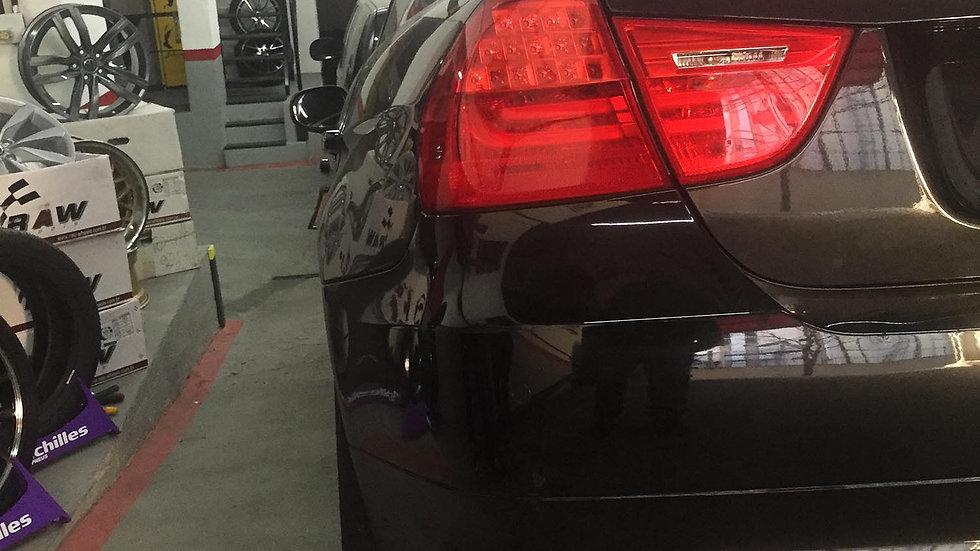 """Ponteira Dupla 2.5"""" Reta Inox 304 BMW 325i 2009-2012"""