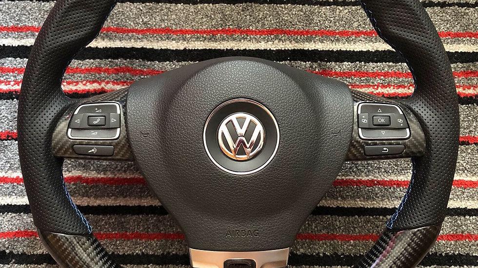 Volante Volkswagen Jetta MK6 Fibra de Carbono com airbag