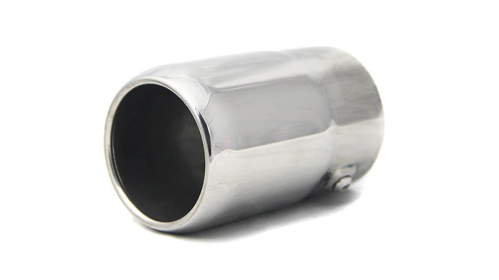 "Ponteira Universal 3"" Round Reta Redução 2.7"" Inox 304"