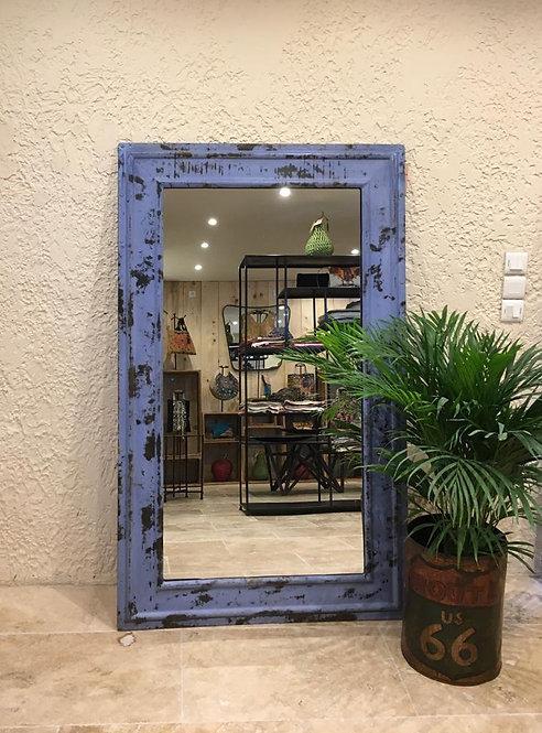Miroir métal bleu