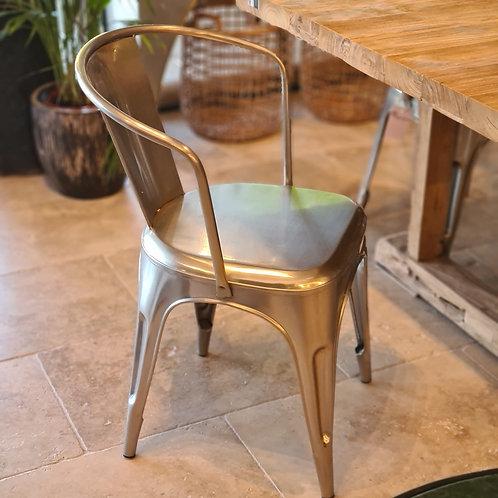 chaise métal chromée