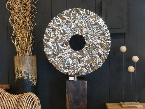 Sculpture métal nickelée