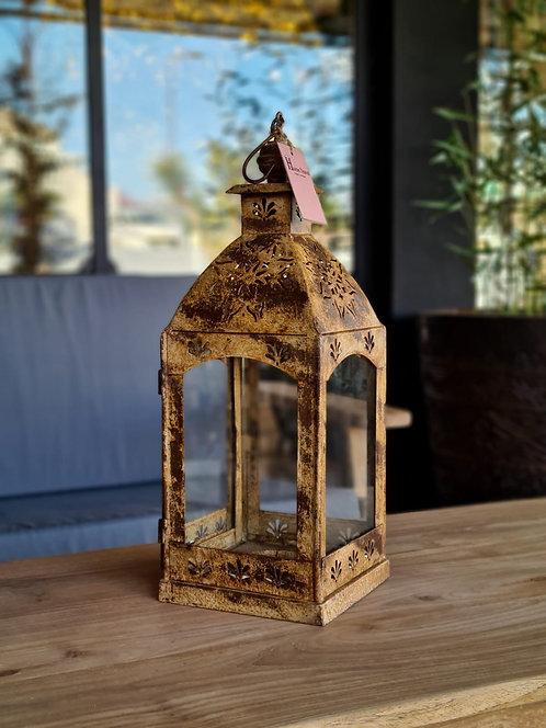 Lanterne jaune en métal