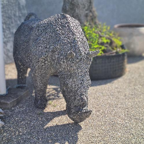 Sculpture fonte d'alluminuim