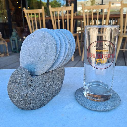 Set dessous verre pierre