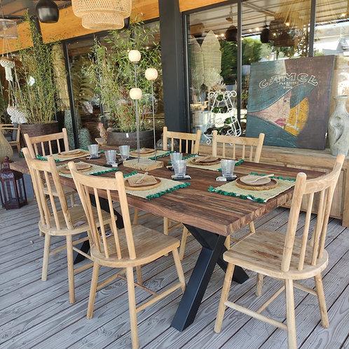 Table en teck extérieur TIKA 200x100