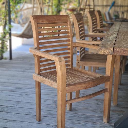 Chaise de jardin en teck