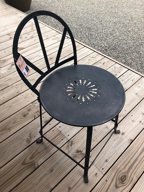 Chaise de table métal grise