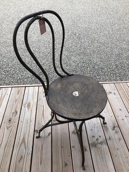 Chaise de table métal