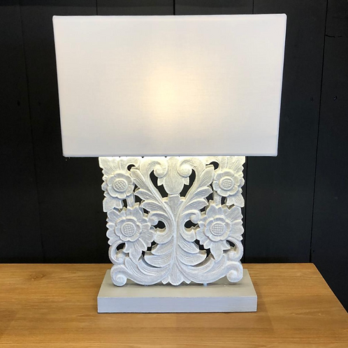 Lampe bois sculptée SHADE