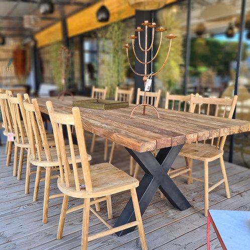 Table en teck extérieur 300x100