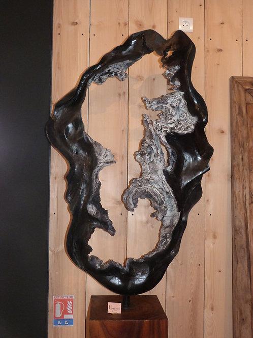 Sculpture bois noire
