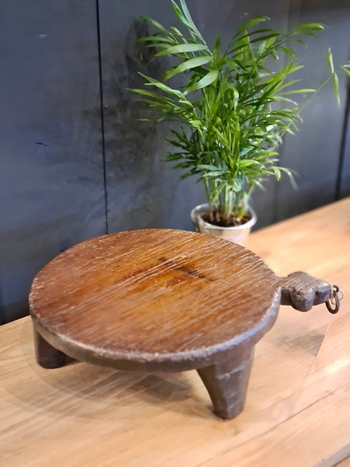 Plat à Chapati en bois ancien