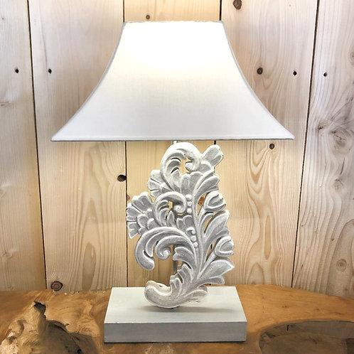 Lampe bois sculptée TALISMAN