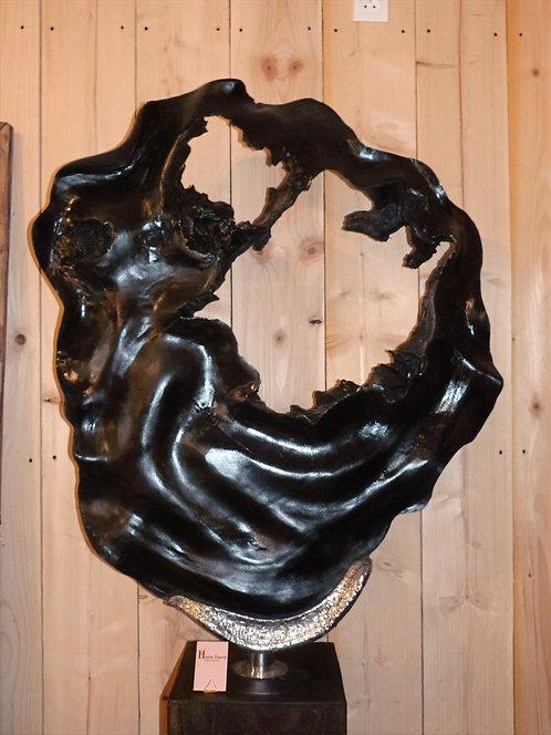 Sculpture bois et alluminium