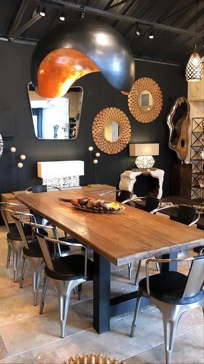 Table atelier métal et bois 245x100