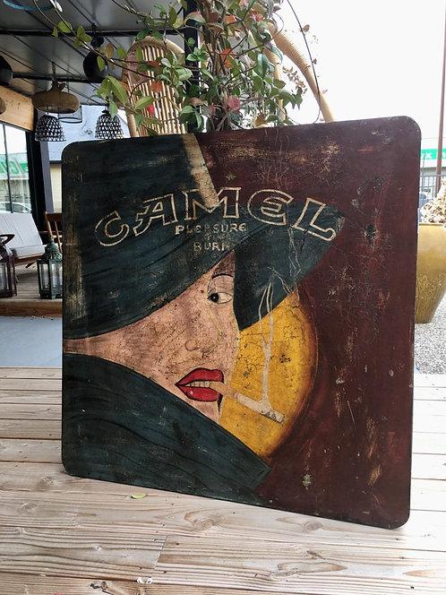 Tableau bois VINTAGE Camel
