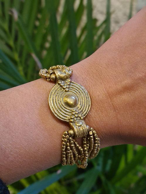 Bracelet médaillon en laiton
