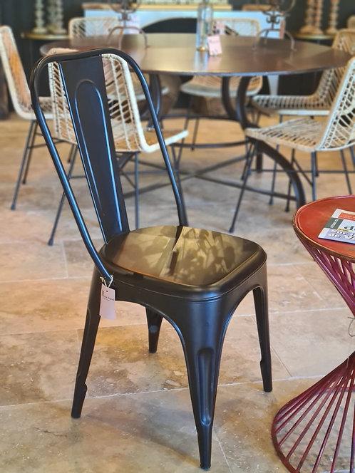 Chaise de table  métal noire